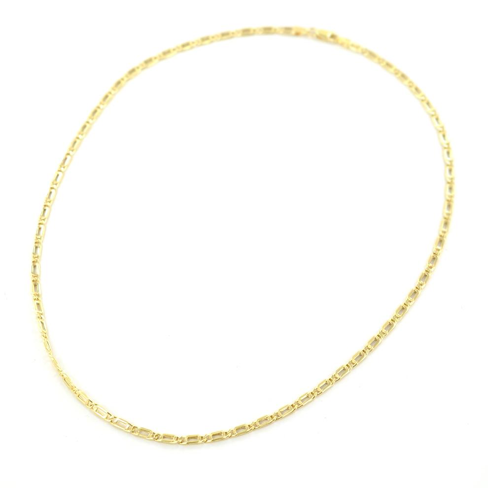 Collana catena da Uomo in oro di 50 cm maglia occhio di pernice