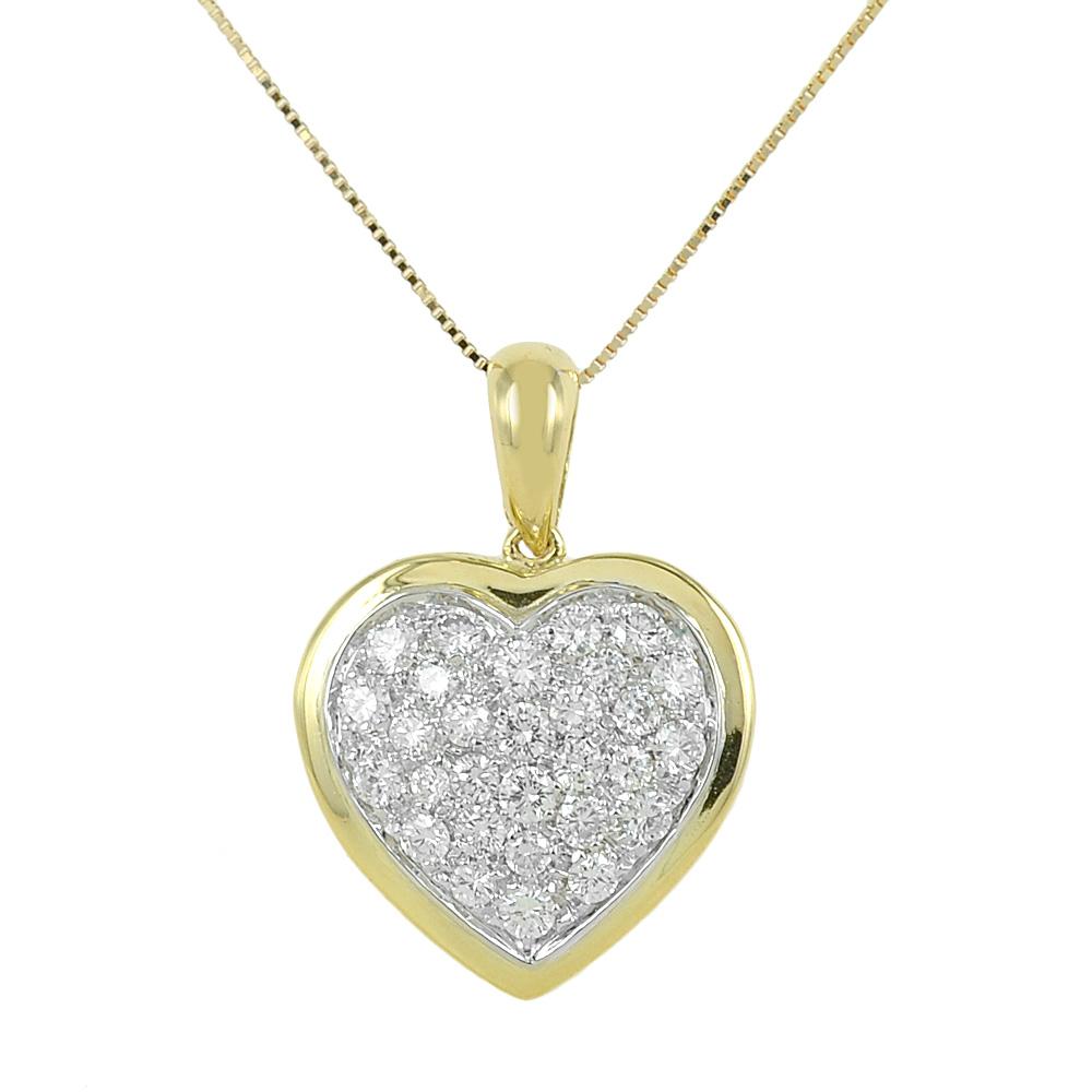 Collana con ciondolo Cuore in oro e diamanti