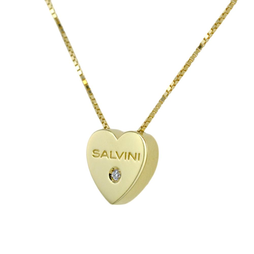collana con ciondolo cuore in oro giallo i Segni Salvini gioielli