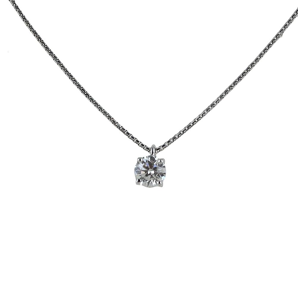 Collana con ciondolo diamante punto luce 0.43 carati