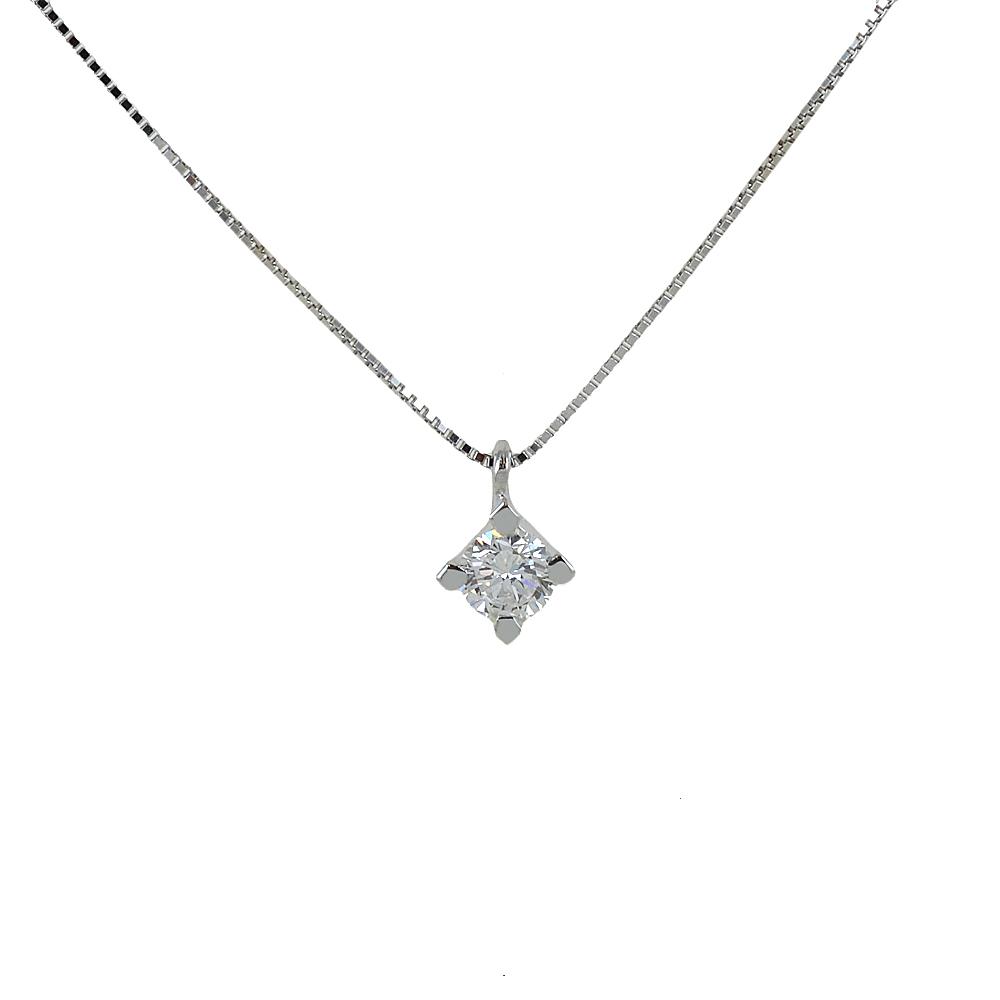 Collana con ciondolo Diamante punto luce carati 0.35 G