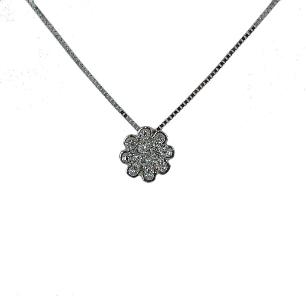 Collana con ciondolo Fiore con Diamanti collezione Grace