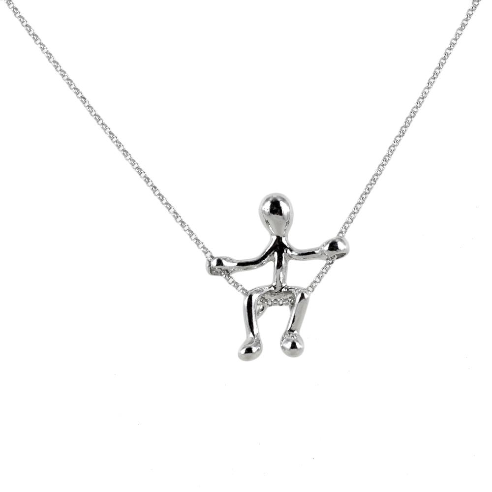 Collana con ciondolo Pensieri Felici Altalena in argento GS1048