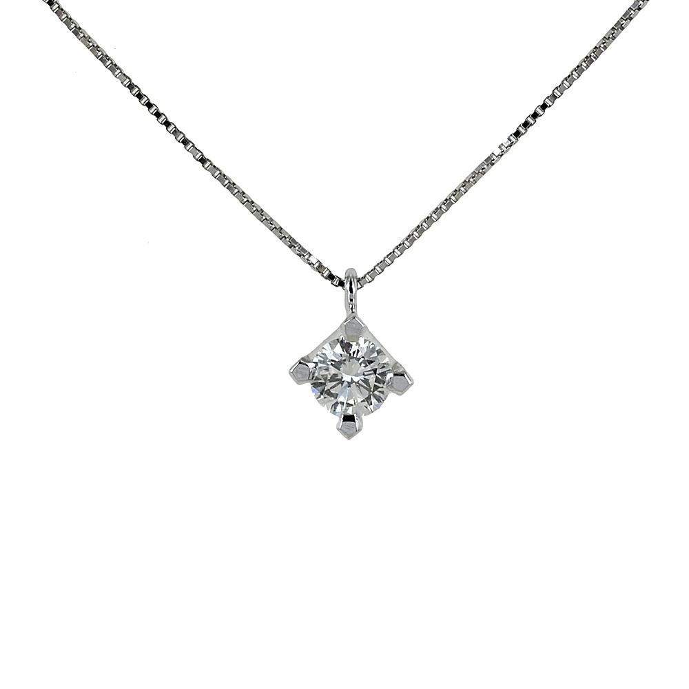 Collana con ciondolo punto luce grande Diamante mezzo carato