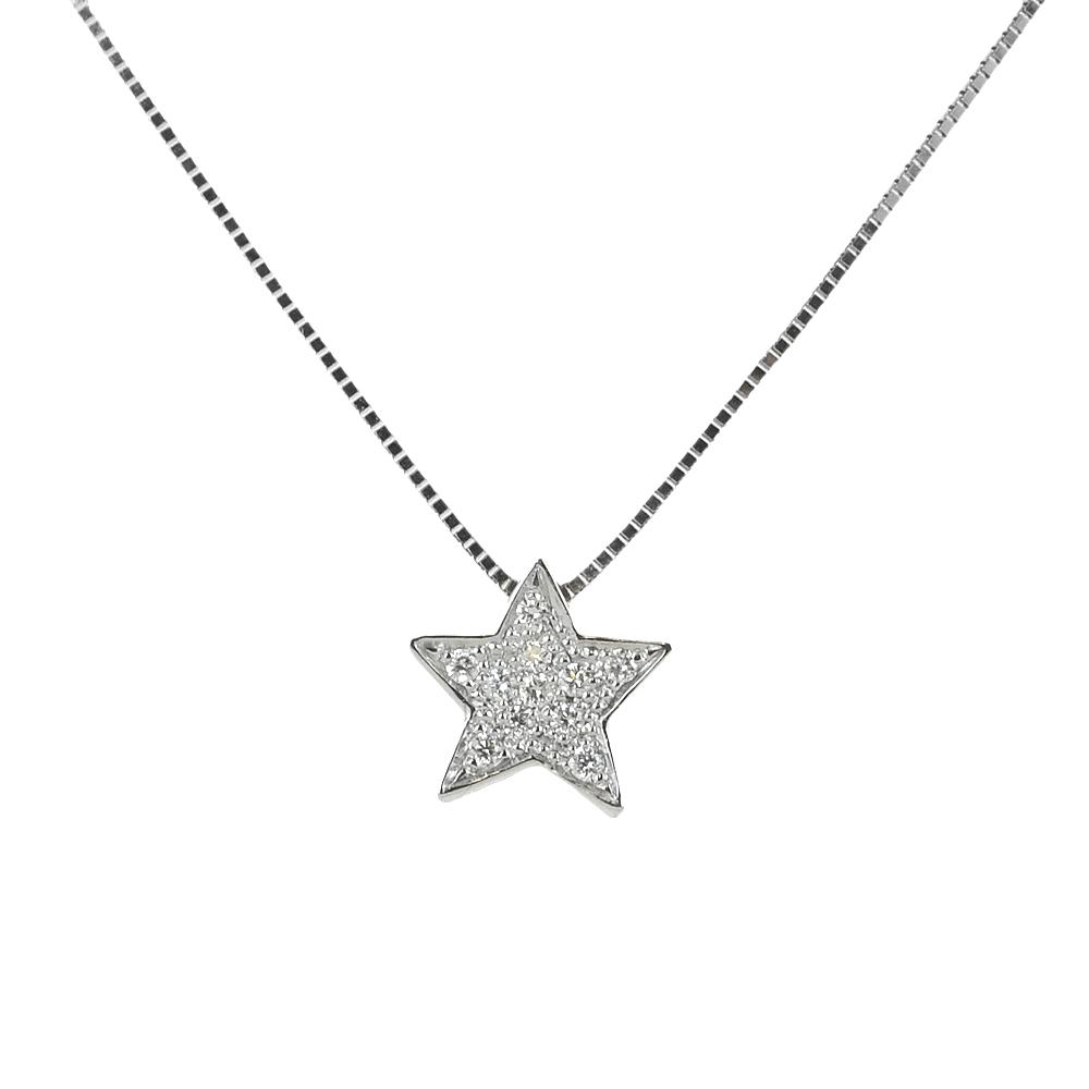 Collana con ciondolo Stella con Diamanti collezione Grace