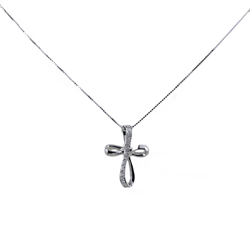 Collana con croce di diamanti moderna Gioielli Valenza