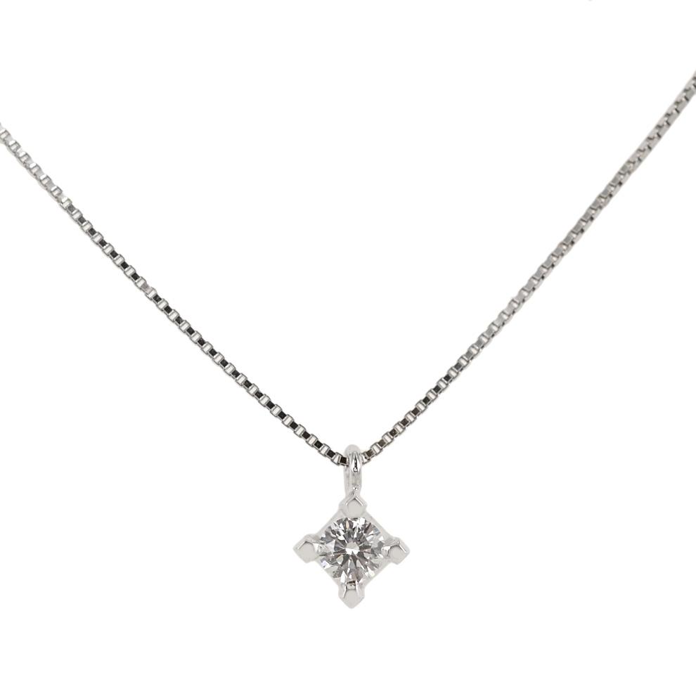 Collana con Diamante punto luce medio carati 0.21 G VS