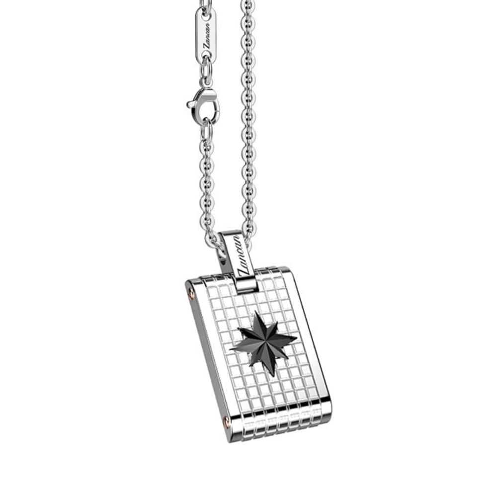 Collana con medaglia Zancan da uomo in Acciaio EHC133