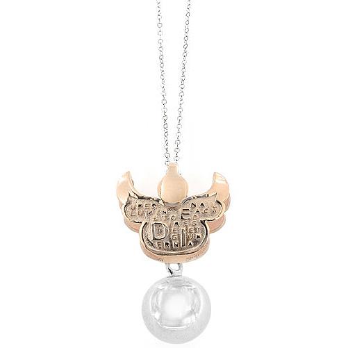 Collana con pendente Chiama Angeli Angele Dei in argento Agios