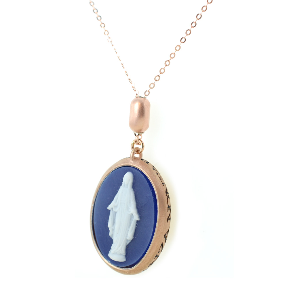 Collana con pendente Miracolosa frase papa Francesco in argento Agios
