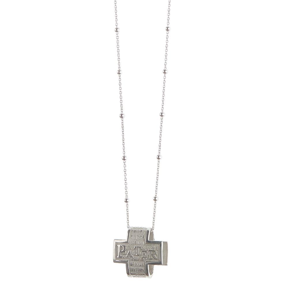Collana con pendente Pater in argento Padre Nostro Agios