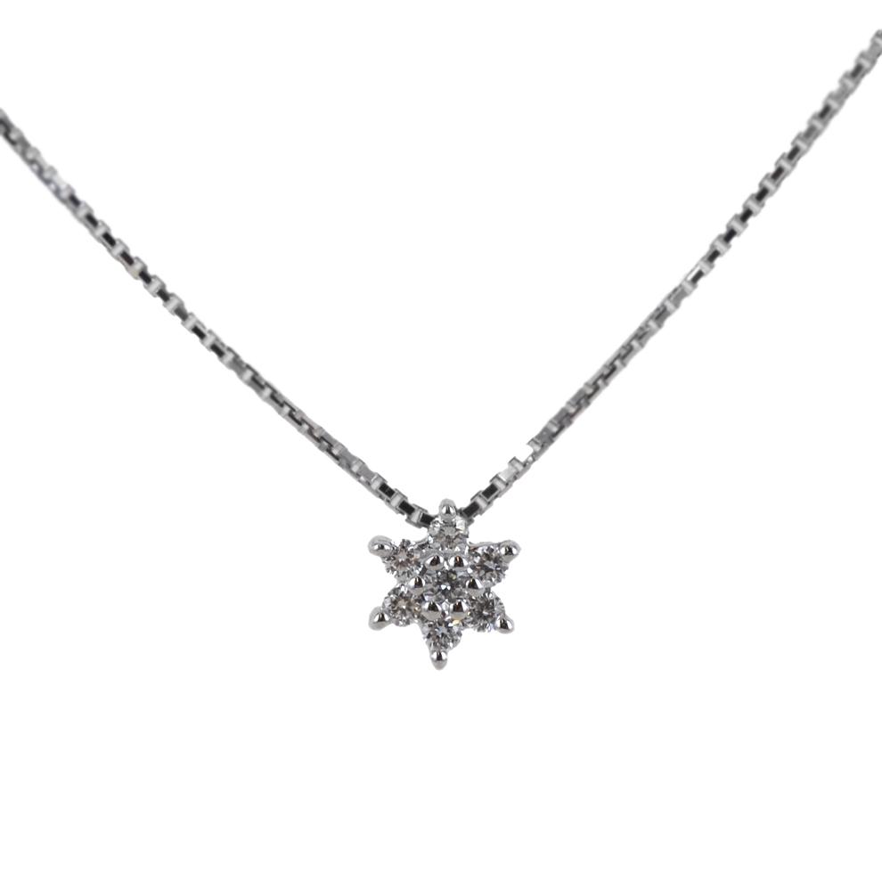 Collana con pendente Stella in oro e diamanti ct. 0.06 Gioielli Valenza