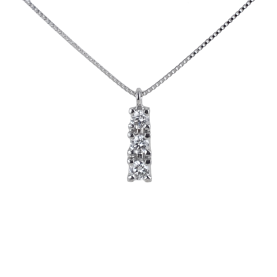 Collana con pendente Trilogy con diamanti carati 0.27 G