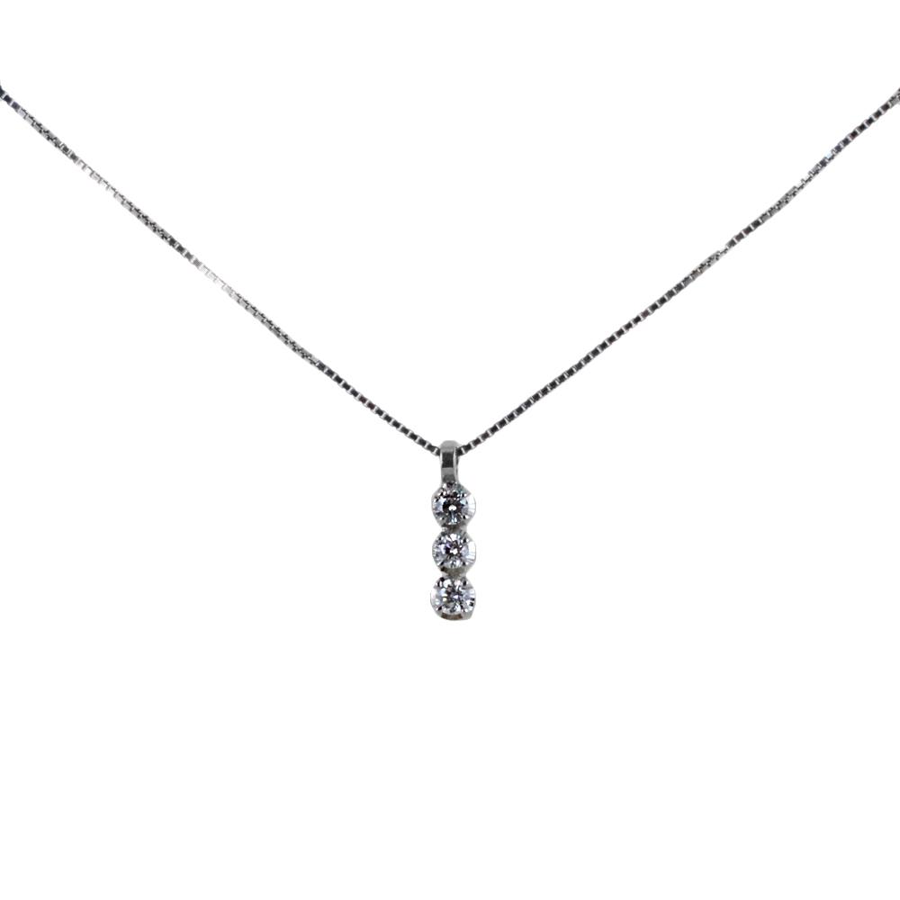 Collana con pendente Trilogy piccolo con diamanti carati 0.09 G