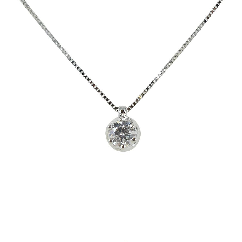 collana con punto luce diamante 0.24 ct Salvini gioielli