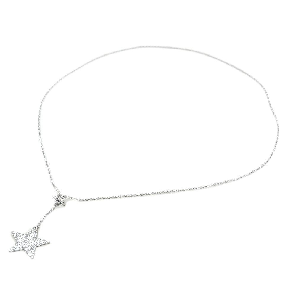 Collana con stelle a saliscendi in argento collezione Shiny