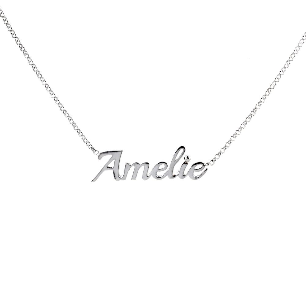 Collana da ragazza personalizzata con nome in argento