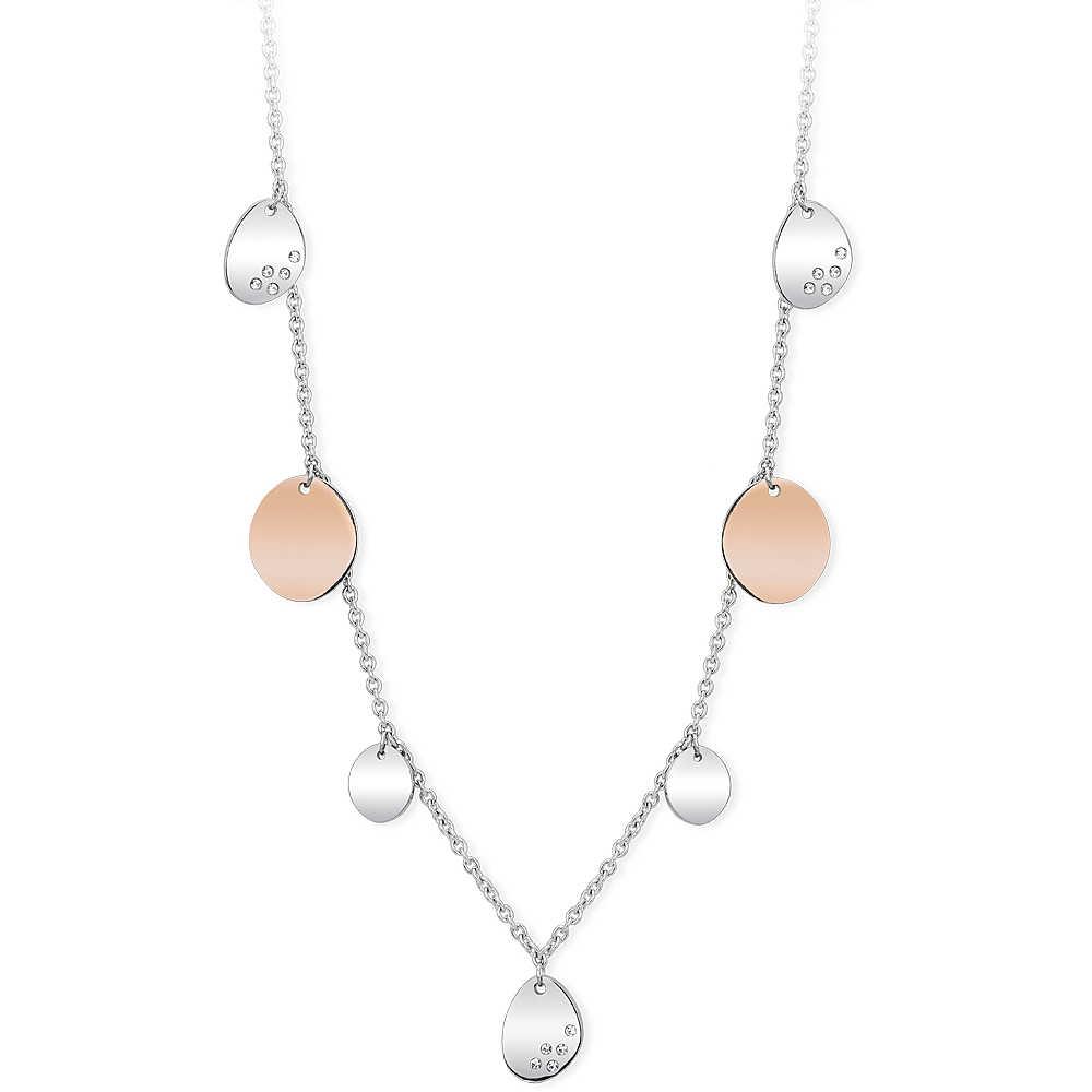 Collana Donna 2Jewels in Acciaio Petali rosa collezione Flat 251698