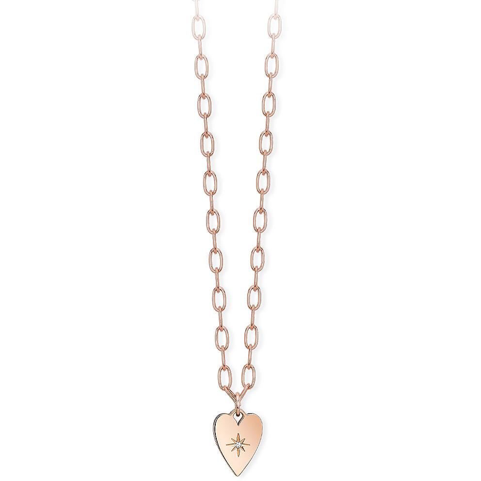 Collana Donna 2Jewels in Acciaio rosa Cuore Regina di Cuori 251704