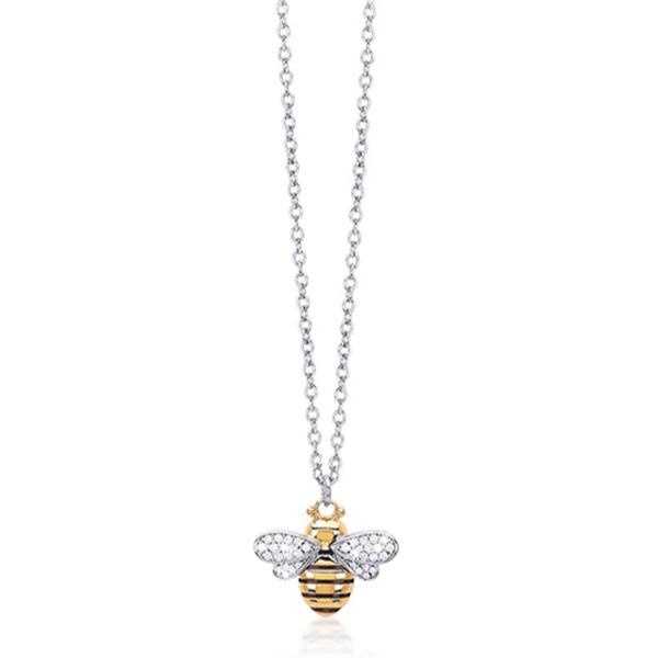 Collana donna Mabina in argento con ape smalto e zirconi 553188