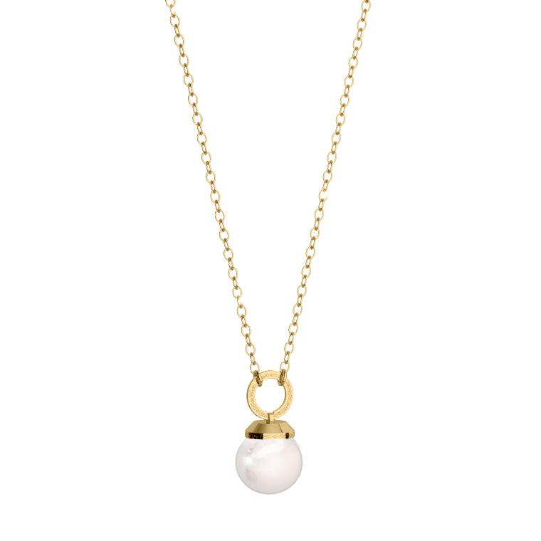 Collana donna Rebecca in bronzo e perla collezione Hollywood Pearl BHOKOO74