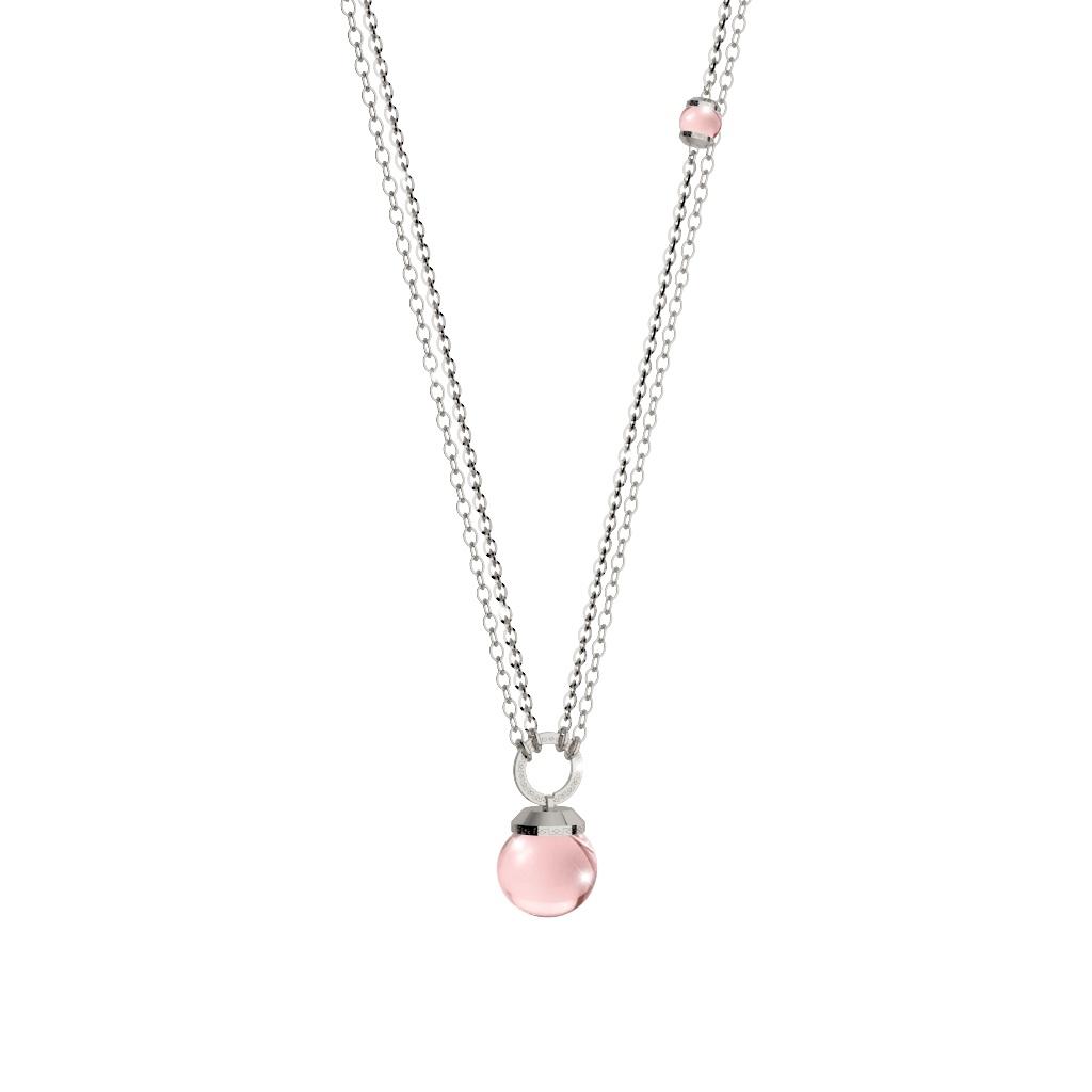 Collana donna Rebecca in bronzo e perla rosa collezione Hollywood Pearl BHTKBQ09