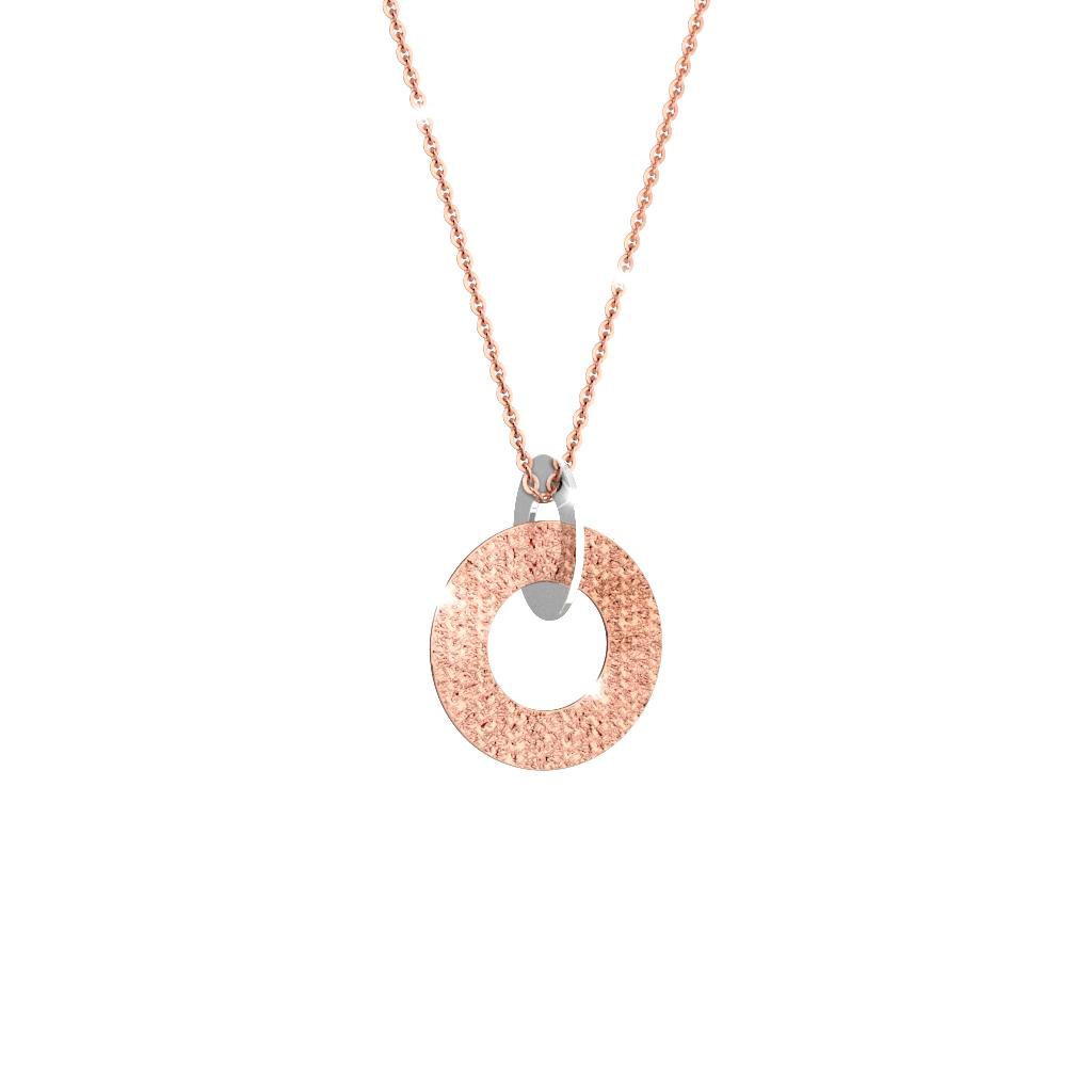 Collana lunga in acciaio e bronzo rosa Rebecca BRZKXR12