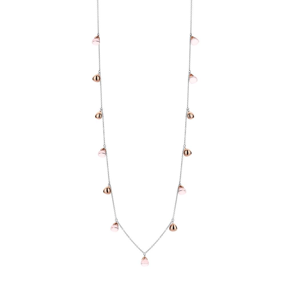 Collana lunga Ti Sento Milano Donna cristalli rosa in argento 3901NU