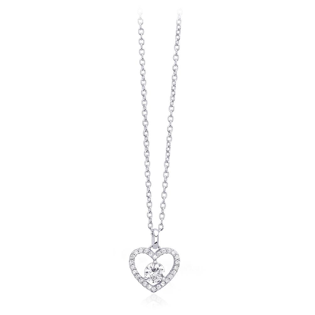 Collana Mabina donna con pendente cuore  553169