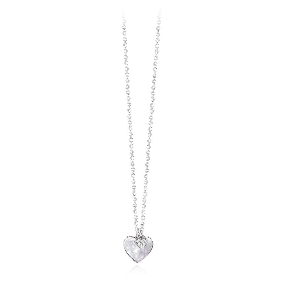Collana Mabina donna con pendente cuore madreperla 553271