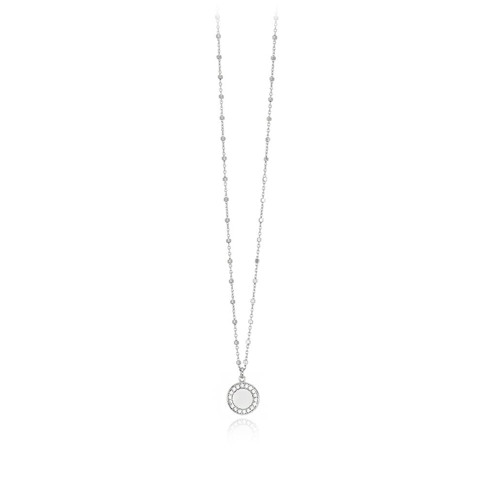 Collana Mabina in argento con zirconi 553305