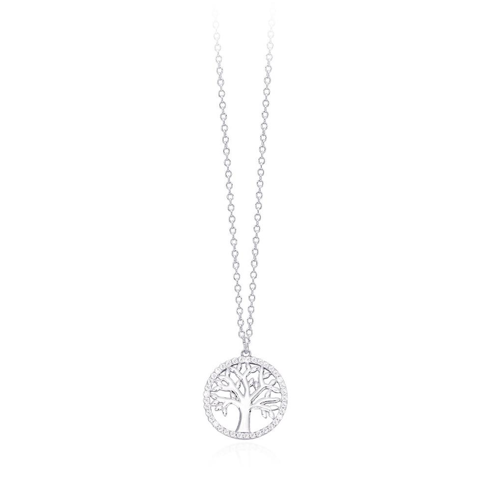 Collana Mabina in argento con zirconi albero 553200