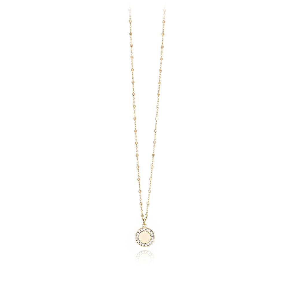 Collana Mabina in argento dorato con zirconi 553304