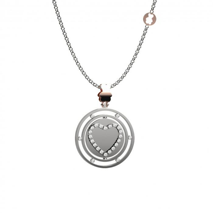 Collana Nanan con ciondolo dettaglio cuore in argento NAN0004