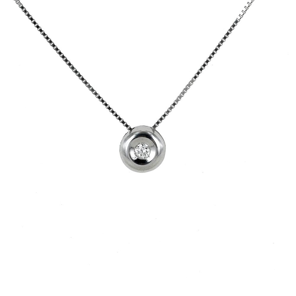 Collana Punto Luce Cipollina piccola con diamante ct 0.04 G VS