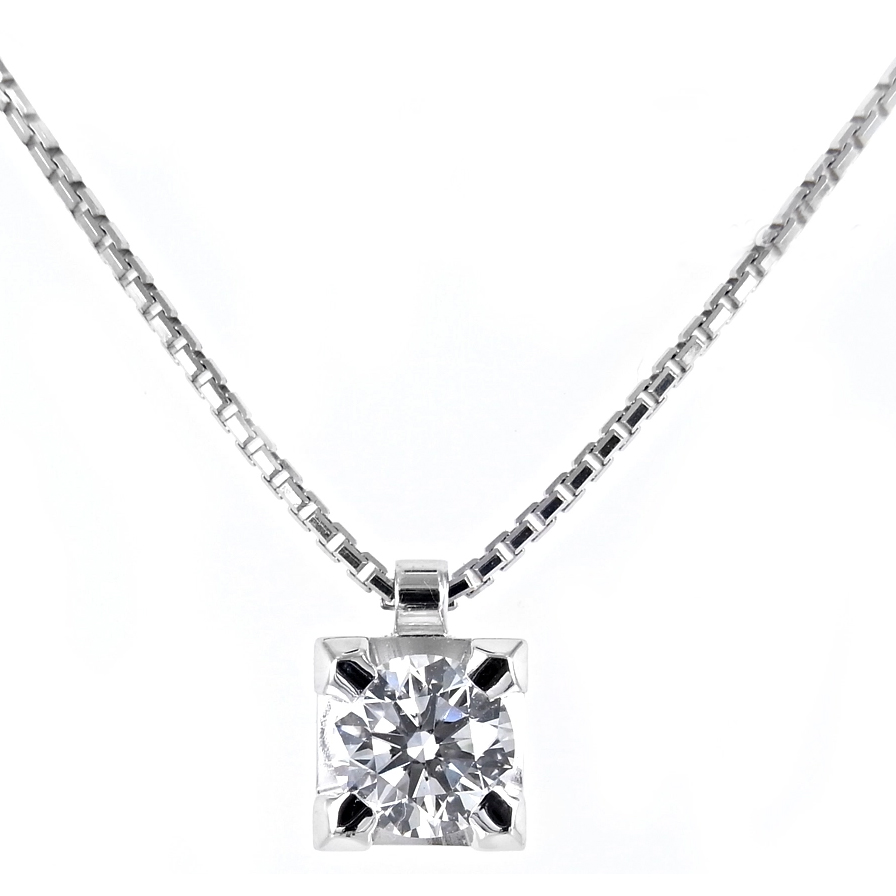 Collana Punto Luce diamante ct 0.56 G Gioielli Valenza