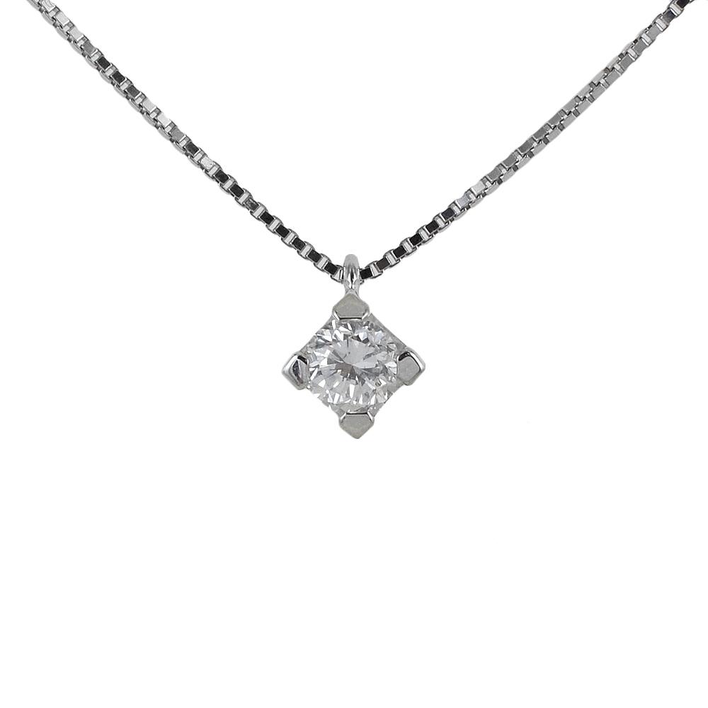 Collana Punto Luce medio diamante 0.22 ct bellissimo colore F