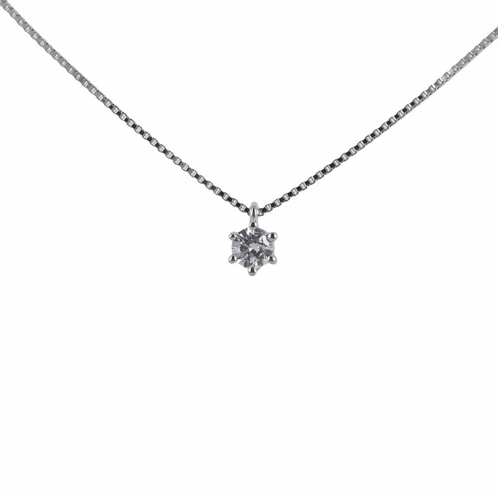 Collana Punto Luce piccolo con diamante 0.15 carati alta gioielleria