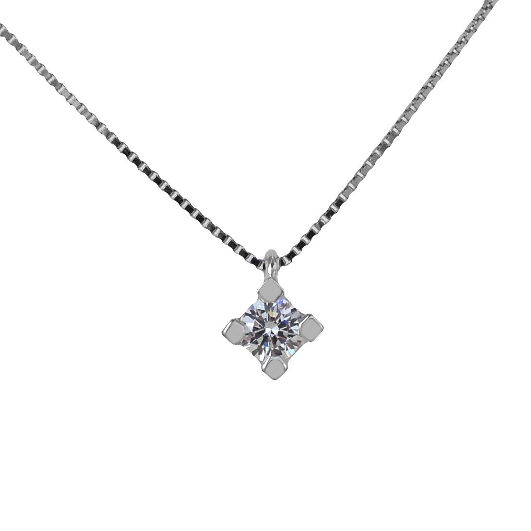 Collana Punto Luce piccolo diamante da 0.07 carati