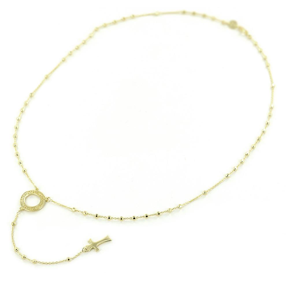 Collana rosario con frase papa Francesco in argento Agios