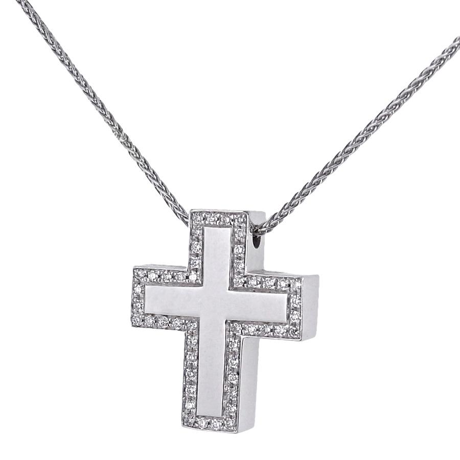 Collana Salvini collezione Croci in oro e diamanti ct. 0.28