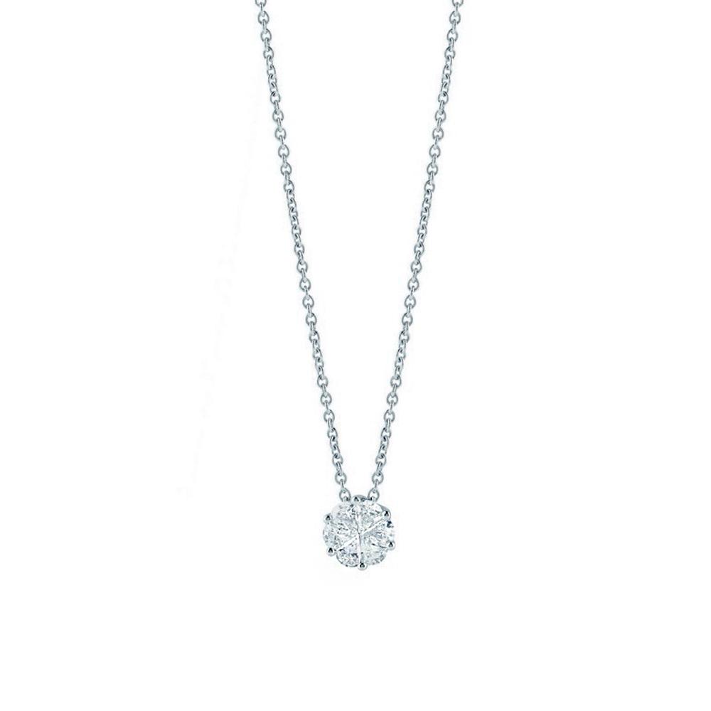Collana Salvini Petali con diamanti effetto punto luce ct 0.55