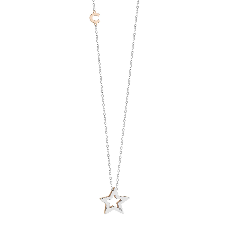Collana Stella Comete Gioielli con diamante GLB 1449
