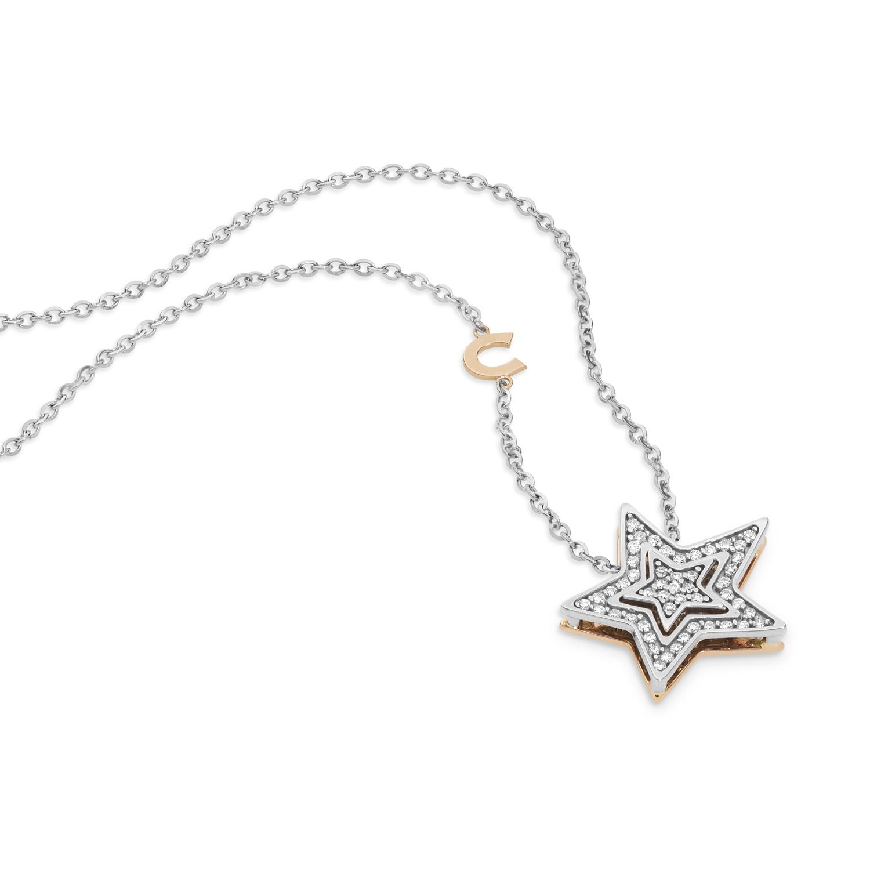 Collana Stella Comete Gioielli con diamanti GLB 1446