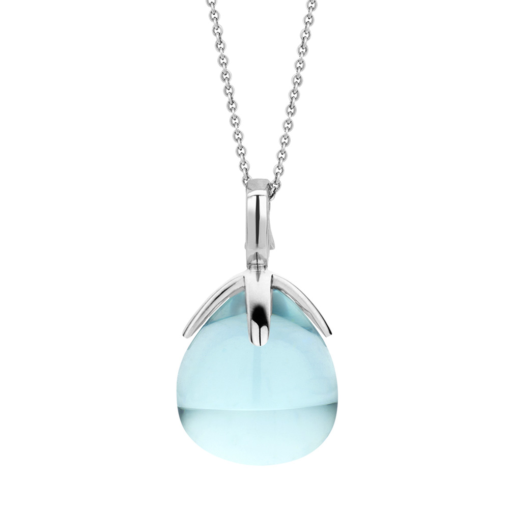 Collana Ti Sento Milano Donna cristallo azzurro in argento 6762WB