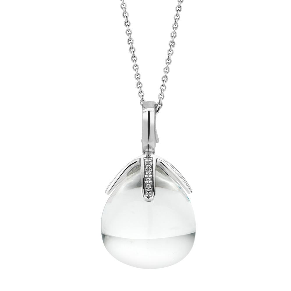 Collana Ti Sento Milano Donna cristallo bianco in argento 6763TC
