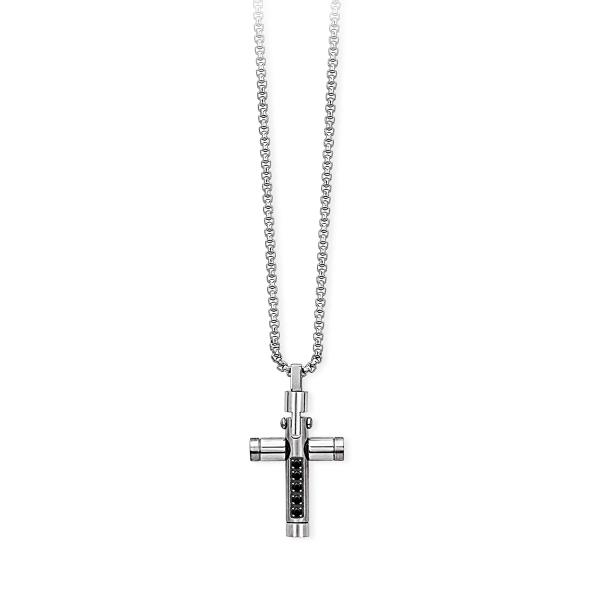Collana Uomo 2Jewels in Acciaio Croce collezione Compact 251598