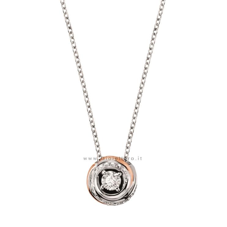 Collier Salvini collezione Charade Solitario in oro e Diamanti ct 0.35 G