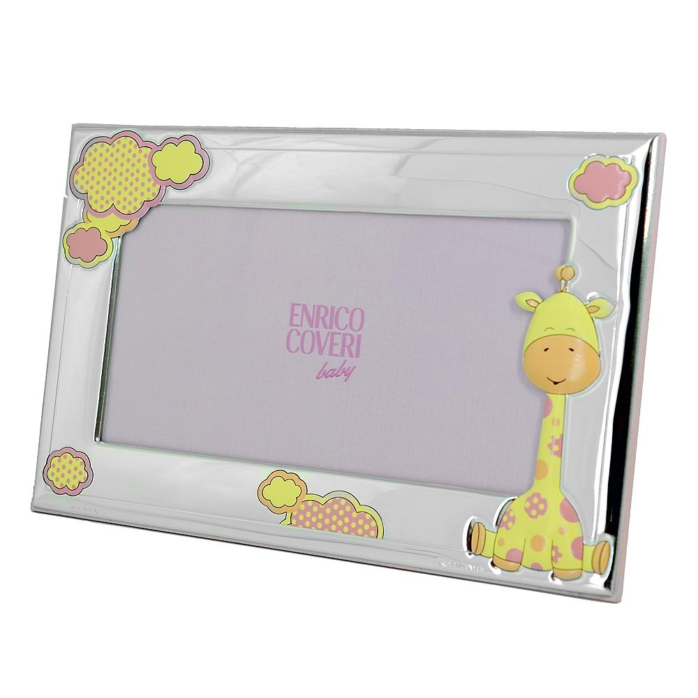 Cornice da bambina con Giraffa 20 x 10 cm cornice orizzontale