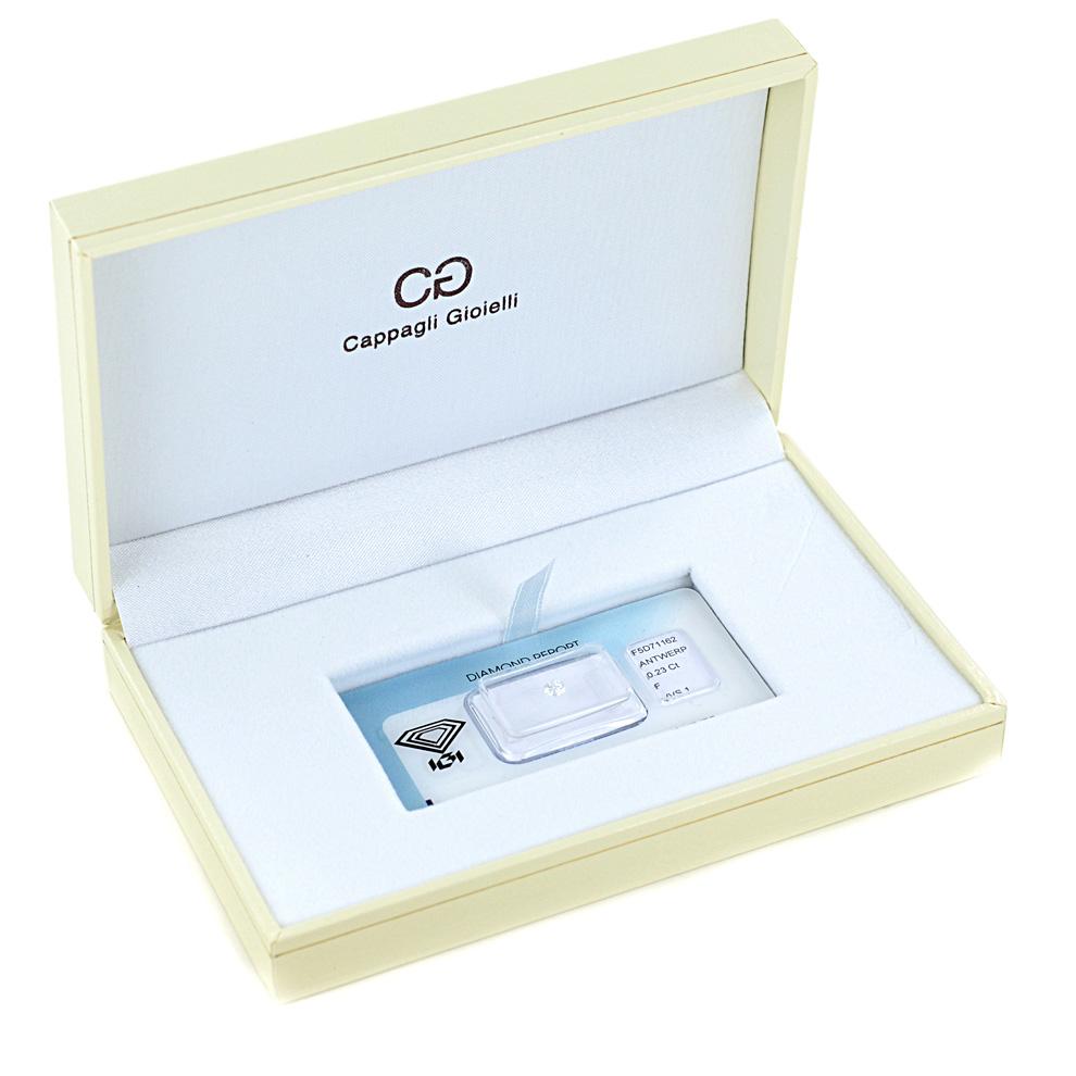 Diamante certificato ct. 0.23 F VVS1 certificato IGI